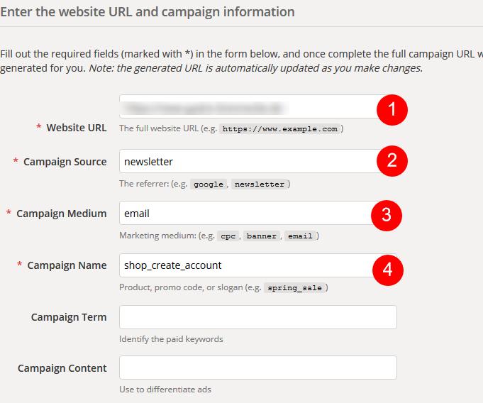 Google Analytics Campaign Builder